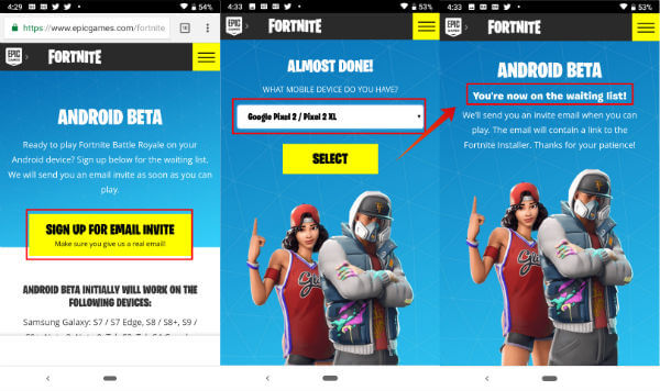 Fortnite Android Beta Request