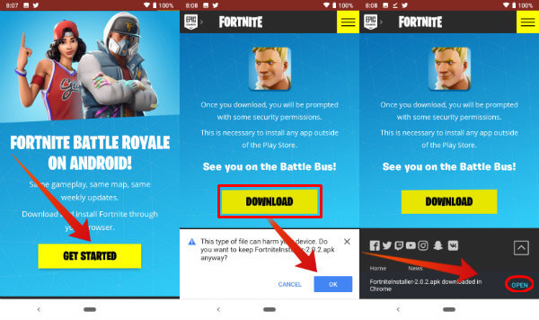 Fortnite Android PreInstall