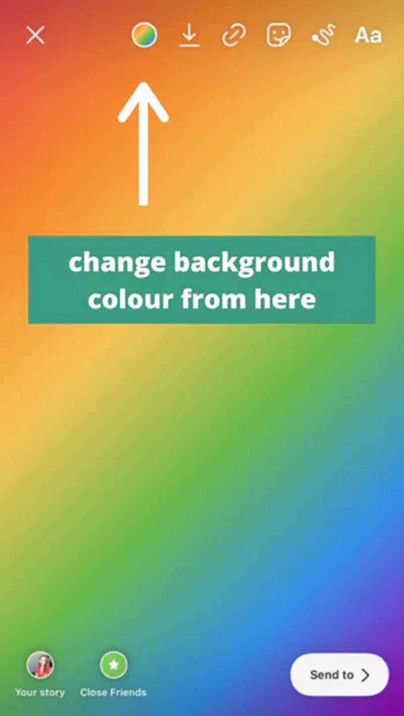 Change The Background Color On Instagram Story